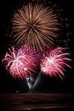 Mazzo dei fuochi d'artificio Fotografia Stock Libera da Diritti