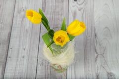 Mazzo dei tulipani gialli Immagini Stock Libere da Diritti