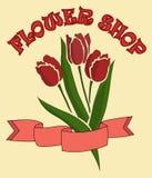 Mazzo dei tulipani nel negozio di fiore Vettore Fotografia Stock