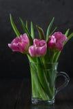 Mazzo dei tulipani rosa freschi Immagine Stock Libera da Diritti
