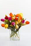 Mazzo dei tulipani in un vaso Fotografie Stock
