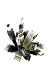 Mazzo del cavo del USB Fotografia Stock Libera da Diritti