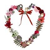 Mazzo del cuore del biglietto di S. Valentino Fotografia Stock Libera da Diritti