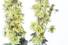 Mazzo del fiore artificiale variopinto, fondo bianco immagini stock libere da diritti