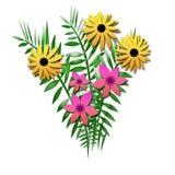 Mazzo del fiore con le felci royalty illustrazione gratis