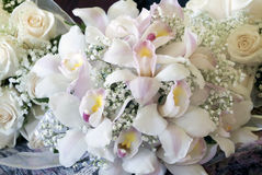Mazzo del fiore dell'orchidea Fotografia Stock