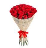 Mazzo del fiore delle rose rosse fotografia stock libera da diritti