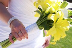 Mazzo del fiore delle spose Fotografie Stock Libere da Diritti