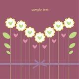 Mazzo del fiore sotto forma di cuore Fotografia Stock