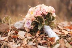 Mazzo del fiore sulla terra Immagini Stock