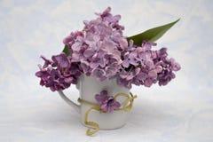 Mazzo del lillà in un vaso Fotografia Stock