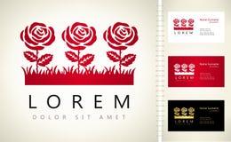 Mazzo del logo delle rose Fotografia Stock Libera da Diritti