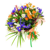 Mazzo del nerine, dell'iride, del alstroemeria, delle rose e di altri fiori Immagini Stock Libere da Diritti