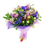 Mazzo del nerine, dell'iride, del alstroemeria, delle rose e di altri fiori Fotografia Stock Libera da Diritti