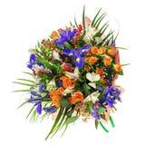 Mazzo del nerine, dell'iride, del alstroemeria, delle rose e di altri fiori Immagine Stock Libera da Diritti