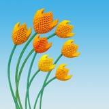 Mazzo del tulipano di origami Immagini Stock Libere da Diritti