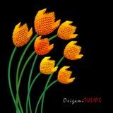Mazzo del tulipano di origami Fotografia Stock