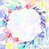 Mazzo dell'acquerello dei fiori royalty illustrazione gratis