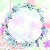 Mazzo dell'acquerello dei fiori illustrazione di stock