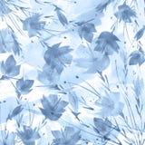 Mazzo dell'acquerello dei fiori papavero, fiordaliso illustrazione vettoriale