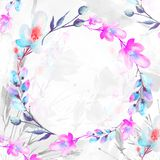 Mazzo dell'acquerello dei fiori Priorit? bassa floreale illustrazione di stock