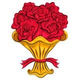Mazzo dell'annata delle rose Fotografia Stock