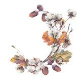 Mazzo dell'annata di autunno dell'acquerello Fotografia Stock