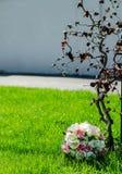 Mazzo della primavera con i doppi tulipani Fotografie Stock