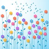 Mazzo della primavera dei wildflowers illustrazione vettoriale