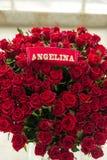 Mazzo della rosa rossa di Angelina Immagini Stock