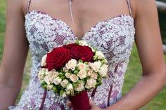 Mazzo della sposa Immagini Stock