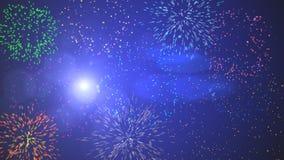 Mazzo della stella filante dei fuochi d'artificio Immagine Stock