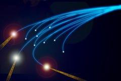 Mazzo delle fibre ottiche blu Fotografia Stock Libera da Diritti