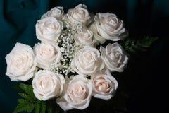 Mazzo delle rose bianche Fotografia Stock Libera da Diritti