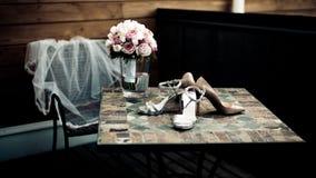 Mazzo delle rose bianche Fotografie Stock