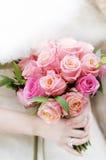 Mazzo delle rose di cerimonia nuziale Immagini Stock