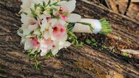 Mazzo delle rose fresche Mazzo festivo dei fiori freschi Fiori di Weding stock footage