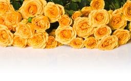 Mazzo delle rose gialle Fotografie Stock Libere da Diritti