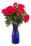 Mazzo delle rose rosa scure Immagine Stock