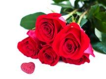 Mazzo delle rose rosse Fotografie Stock Libere da Diritti
