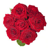 Mazzo delle rose rosse Immagini Stock