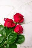 Mazzo delle rose rosse Fotografie Stock