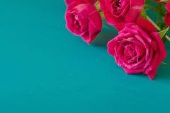 Mazzo delle rose rosse con spazio libero per testo Generi il giorno del ` s, il buon compleanno, il giorno del ` s delle donne Fotografia Stock Libera da Diritti