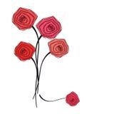 Mazzo delle rose rosse su fondo bianco Fotografie Stock