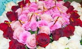 Mazzo delle rose sbiadito rosa Immagine Stock