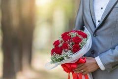 Mazzo delle rose sul vostro giorno delle nozze Fotografia Stock Libera da Diritti