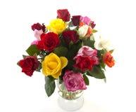 Mazzo delle rose variopinte Immagine Stock