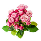 Mazzo dentellare delle rose fotografia stock libera da diritti