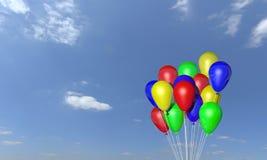 Mazzo di aerostati dell'elio Fotografie Stock Libere da Diritti