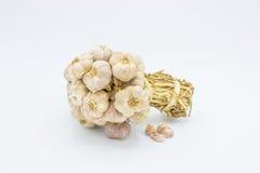 Mazzo di aglio e di compresse Fotografia Stock